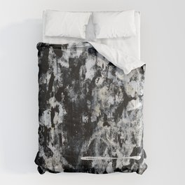 004: a vibrant abstract design in black and white by Alyssa Hamilton Art  Comforters