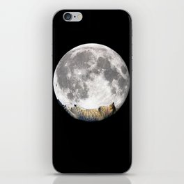Sleeping cat with the Moon iPhone Skin