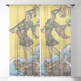 Tarot Card - The Fool Sheer Curtain