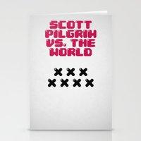 scott pilgrim Stationery Cards featuring Scott Pilgrim vs. The World by Martin Lucas