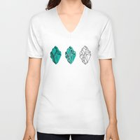clear V-neck T-shirts featuring Crystal clear by heydaisy.