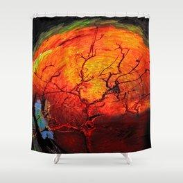 Hurting Tree Shower Curtain