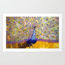 Princess Peacock Art Print