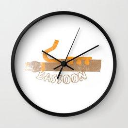 Bassoon Musical Instrument Wall Clock