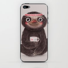 Sloth I♥yoga iPhone & iPod Skin