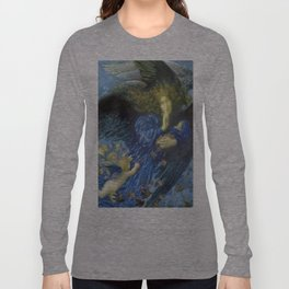 Night with her Train of Stars by Edward Robert Hughes Long Sleeve T-shirt