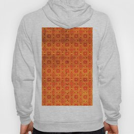Orange Geometric Traditional Moroccan Pattern Artwork. Hoody