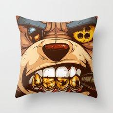 Bo: Plushy Gangsta CloseUP Throw Pillow
