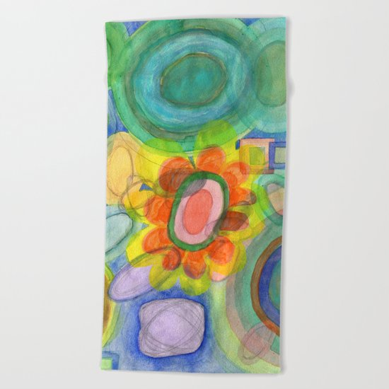 A closer Look at the Flower  Universe Beach Towel