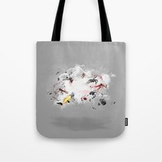 Dust-Ups: Zombie vs Robot Tote Bag