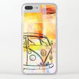 Patchwork Minivan Clear iPhone Case
