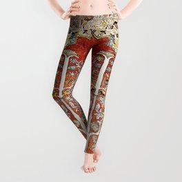 Silk Tabriz Northwest Persian Rug Print Leggings