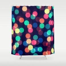 Round bokeh Shower Curtain