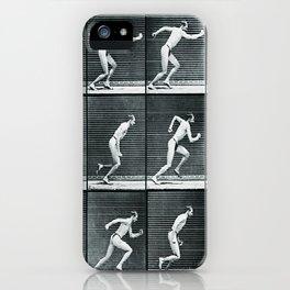 Time Lapse Motion Study Man Running Study Photography Pop Art Vintage Human Men iPhone Case