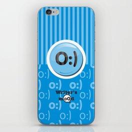 Blue Writer's Mood iPhone Skin
