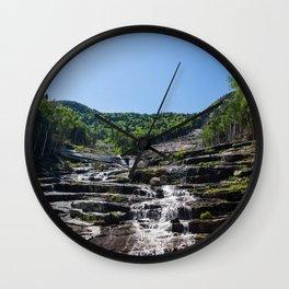 Lower Wolf Jaw Mountain Wall Clock