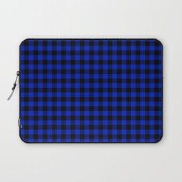 Cobalt Blue Cowboy Buffalo Check Plaid Laptop Sleeve