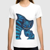 cheshire cat T-shirts featuring Cheshire cat by trevacristina