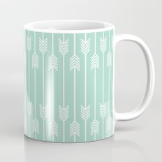 White Arrows on Mint Mug