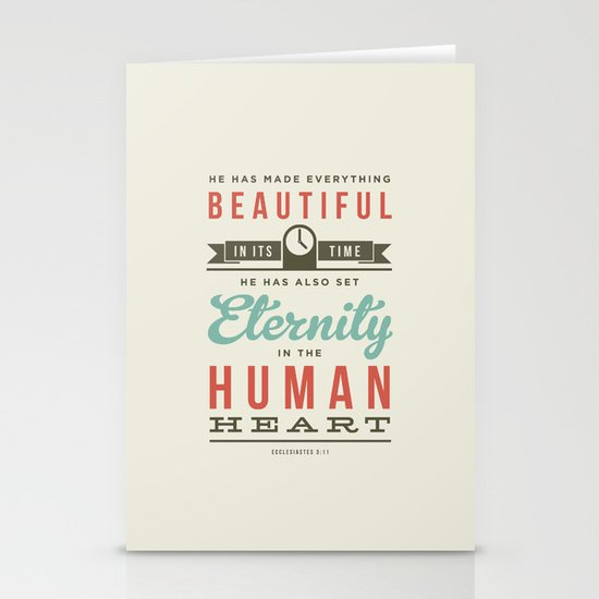He has made everything beautiful Stationery Cards
