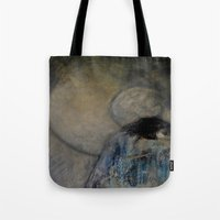 imagerybydianna Tote Bags featuring dreaming in tennyson's tower by Imagery by dianna