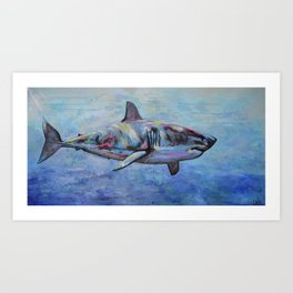 SHARK BABE Art Print