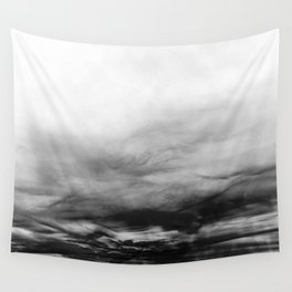 WHITE & BLACK TOUCHING #1 #abstract #decor #art #society6 Wall Tapestry