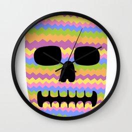 Zig-Zag Skull Wall Clock