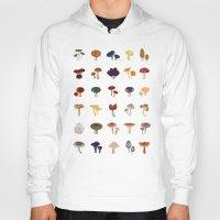 mushrooms Hoodies featuring MUSHROOMS by saimi t