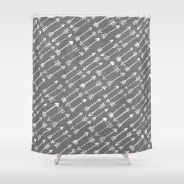 White Arrow Shower Curtain