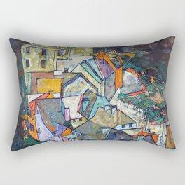 Egon Schiele - Edge of Town (Krumau Town Crescent III) 1918 Rectangular Pillow