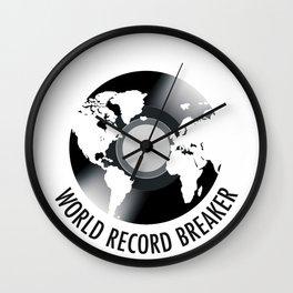 World Record Breaker Wall Clock