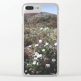 Spring in the Mojave Desert Grasslands Clear iPhone Case