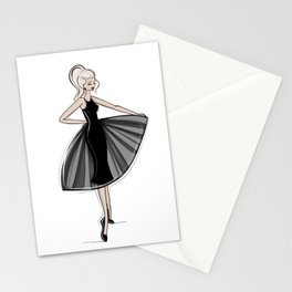 Little Black Panel Dress Stationery Cards