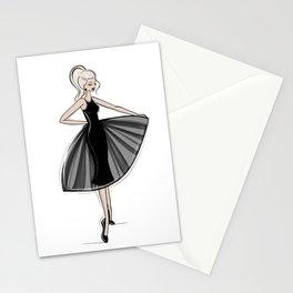Little Black Panel Dress Stationery Cards