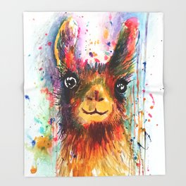 Llama love Throw Blanket