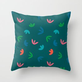 SPROUTS in BLUE Throw Pillow