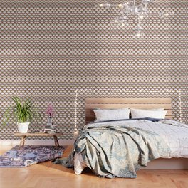 Pink and Gold Art Deco Pattern Wallpaper