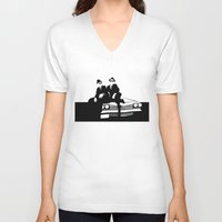 blues brothers V-neck T-shirts featuring Blues Brothers by Greg Koenig