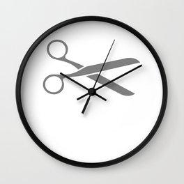 Runner Scissors Run 5k Wall Clock