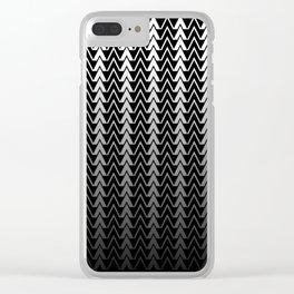 Geometric Peaks Clear iPhone Case