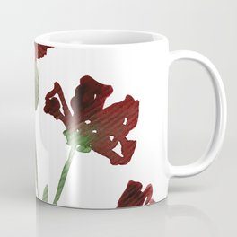 Burgundy Watercolor Carnations Coffee Mug