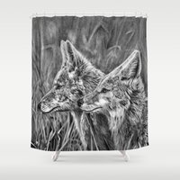 coyote Shower Curtains featuring Coyote by Patrick Entenmann