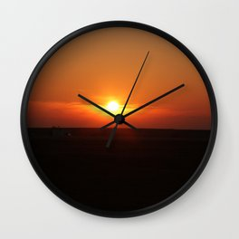 Sunset in Wiltshire England Wall Clock