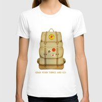 backpack T-shirts featuring PACK AND GO by Je Suis un Lapin