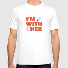 #ImwithCher Print #3 Mens Fitted Tee White MEDIUM