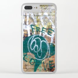 Free Love Clear iPhone Case