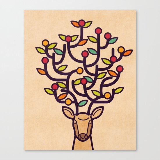 One Happy Deer Canvas Print