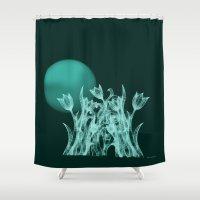 Silky moonlight flower Shower Curtain