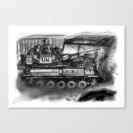 CVRT Scimitar Light Tank Canvas Print